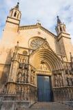 Facade Basilica of Santa Maria of Vilafranca Stock Images