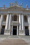 Facade of the Basilica of St. John Lateran Royalty Free Stock Images