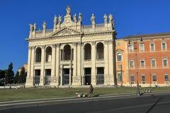 Facade of the Basilica of St. John Lateran in Rome Stock Image