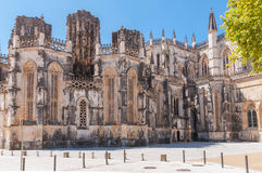 Facade of Batalha Monastery in Portugal Stock Photography