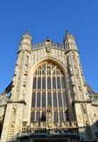 Facade from Bath cathedral. And blue sky Royalty Free Stock Image