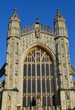 Facade from Bath cathedral. And blue sky Royalty Free Stock Photos