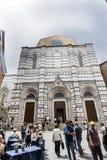 Facade of the `Battistero di San Giovanni` in Piazza San Giovanni Stock Photography