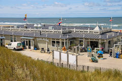 Facade of beach pavilion Thalassa in Zandvoort, the Netherlands Royalty Free Stock Photography