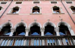 Facade of a beautiful building in Corso Palladio in Vicenza in Veneto (Italy) Stock Photos
