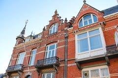 The facade of a beautiful home  in Den Bosch. Stock Photos