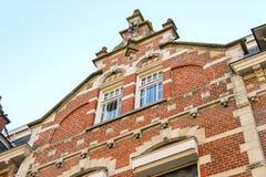 The facade of a beautiful home  in the Dutch town Den Bosch. Stock Photo