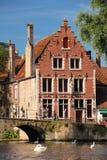 Facade. Begijnhof . Bruges. Belgium Royalty Free Stock Image