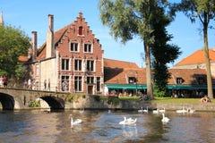 Facade. Begijnhof . Bruges. Belgium Stock Photography