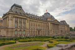 Facade of the Belgian Royal palace, Brussels Royalty Free Stock Images