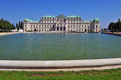 Facade of Belvedere palace in Vienna Stock Image
