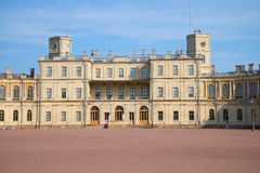 The facade of the Big Gatchina Palace, september day. Gatchina, Russia Royalty Free Stock Photo