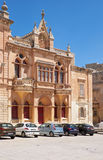 The facade of Bishop's Palace on the Pjazza San Pawl in Mdina. Stock Photos