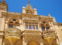 The facade of Bishop`s Palace on the Pjazza San Pawl in Mdina. M. The Baroque style facade of the austere Bishop`s Palace on the Pjazza San Pawl in Mdina. Malta Stock Image