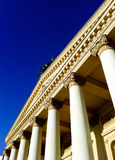 Bolshoi Theatre, Moscow, Russia. Facade of the Bolshoi Theatre, view from below Royalty Free Stock Images