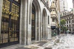 Facade of Bovespa. Sao Paulo, Brazil, March 04, 2014: Facade of Bovespa Stock Brokers Trading building in Sao Paulo, Brazil royalty free stock photo