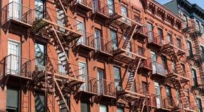 Facade of brick building. Royalty Free Stock Image
