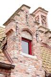 Facade of a brick house Royalty Free Stock Photography