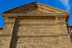 Facade in Brick in Old Building Stock Images