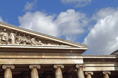 Facade of the British Museum in London Royalty Free Stock Photography