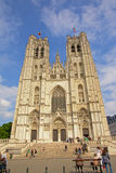 Facade of Brussels cathedral Royalty Free Stock Images