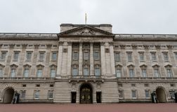 Facade of the Buckingham Palace in late October royalty free stock photo