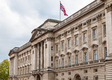 Facade of Buckingham Palace in London Stock Image