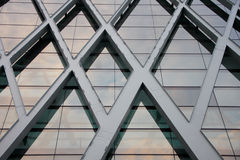 Facade of building. Shopping mall building structure in Bangkok, Thailand royalty free stock photo