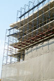 Facade and building. With construction site royalty free stock photo