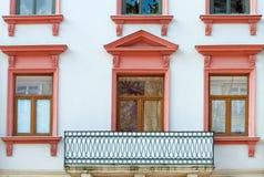 Facade of a building with a balcony. Royalty Free Stock Photos