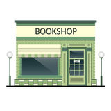 Facade of the building with bookshop. The facade of a bookstore on an background vector illustration