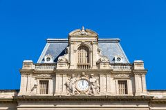 Facade of the building called prefecture de l`herault in Montpellier, France. Facade of the building called prefecture de l`herault in the center of Montpellier stock photography