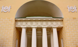 Facade of the building with columns Stock Photo