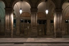 Building at night Royalty Free Stock Photography