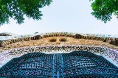 Facade of building designed by Gaudi Stock Photos
