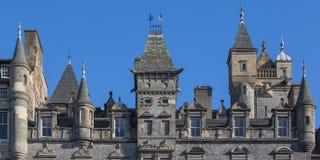 Facade of a building in Edinburgh Old Town. Turreted facade of a building in Edinburgh Old Town Royalty Free Stock Photos