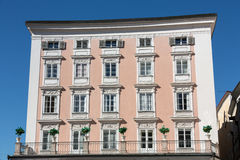 Facade of building in the historic centre of Salzburg Stock Images