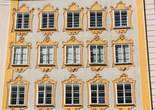 Facade of building in the historic centre of Salzburg Royalty Free Stock Image