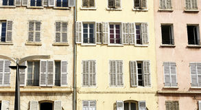Facade of a building in Marseille Royalty Free Stock Photography