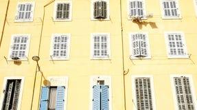 Facade of a building in Marseille Stock Photos