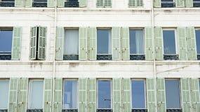 Facade of a building in Marseille Stock Photo