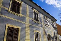 Facade on a building. Facade on a old house Stock Photo