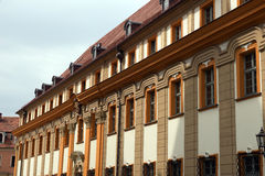 Facade of building on the old square in Wroclaw Royalty Free Stock Photography