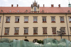 Facade of building on the old square in Wroclaw Royalty Free Stock Image