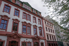 Facade of building on the old square in Wroclaw Stock Photography