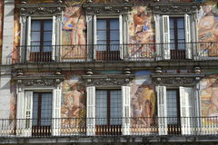 Madrid - Plaza Mayor. Facade of the building in Plaza Mayor Madrid Spain Royalty Free Stock Images