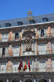 Facade of building on Plaza Mayor Royalty Free Stock Image