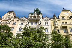 Facade of the building in Prague Royalty Free Stock Photos