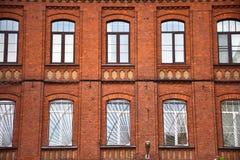 Facade of the building stock photography