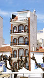 Facade of a building. In sitges, barcelona Stock Photography